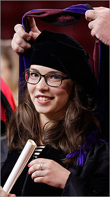 Jessica Cassel had her doctorate of law hood placed over her head as her degree was conferred.