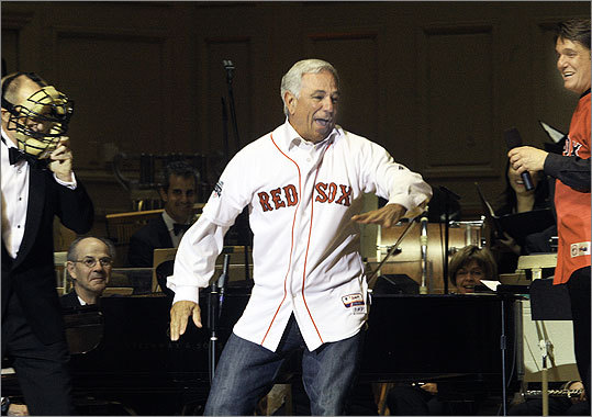 May 24 in Boston From left: Boston Baseball Cantata narrator James Demler, Red Sox manager Bobby Valentine, and Boston Pops conductor Keith Lockhart.
