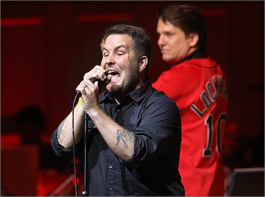 May 24 in Boston Dropkick Murphys singer Ken Casey with Pops conductor Keith Lockhart.