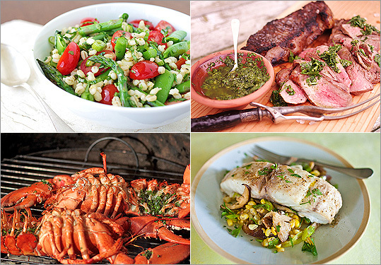 We rounded up some of our favorite quick summertime recipes for main dishes with a little something for everyone -- from land, from sea, and even a selection of protein-packed vegetarian.
