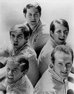 The Beach Boys in an undated press photo from the beginning of their career in the early 1960s.