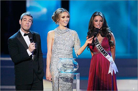 Andy Cohen, Giuliana Rancic, Miss Rhode Island Olivia Culpo