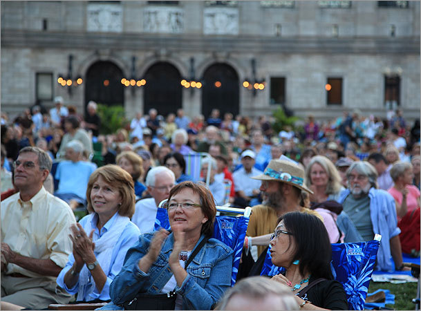 Thousands of people came to Copley Square to enjoy the first night of Summer Arts Weekend.