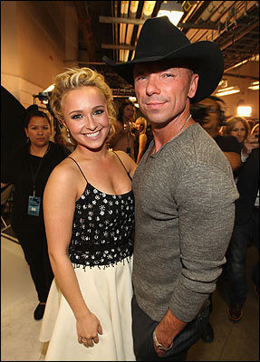 Hayden Panettiere and Kenny Chesney