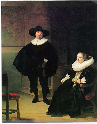 Rembrandt, A Lady and Gentleman in Black Stolen from the Dutch Room. Oil on canvas, 131.6 x 109 cm. Inscribed at the foot, REMBRANDT. FT: 1633. More information at the FBI Art Theft Program website.