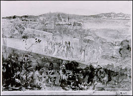 Degas, Cortege aux Environs de Florence Stolen from the Short Gallery. Pencil and wash on paper, 16 x 21 cm. More information at the FBI Art Theft Program website.