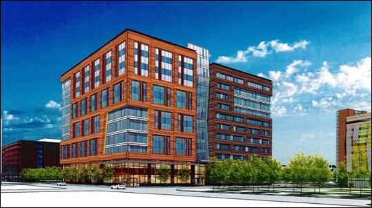 A rendering of the future State Street Corp. office building.