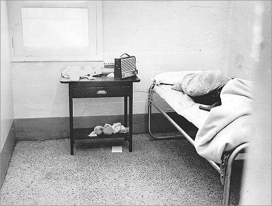 DeSalvo's room at Bridgewater State Hospital where he escaped on Feb. 24, 1967, with two other inmates.