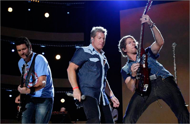 Rascal Flatts (above, at the 2012 CMA Music Festival) headlined the annual Country 102.5 festival Saturday at the Comcast Center.