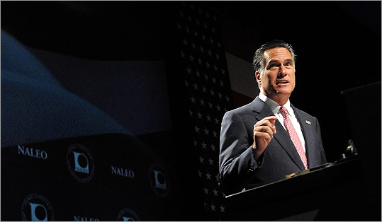 Mitt Romney speaks at the National Association of Latino Elected and Appointed Officials (NALEO) 29th Annual Conference on June 21 in Lake Buena Vista, Fla.