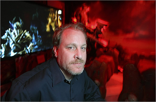 Former Red Sox pitcher Curt Schilling, who started the now-bankrupt video game company 38 Studios, posed at the Electronic Entertainment Expo in Los Angeles in this June 9, 2011 file photo.