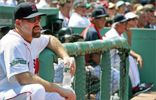 2012 Hampered by injuries and poor performance as 2012 began, Youkilis found himself on the sidelines a lot, opening the door for competition. New manager Bobby Valentine became one of the only people to publicly question Youkilis' passion saying, 'I don't think he's as physically or emotionally into the game as he has been in the past for some reason.' Youkilis responded: 'The only time there has ever been a question is because I've been too emotional.' Added teammate Dustin Pedroia: 'The whole team is behind Youk.'