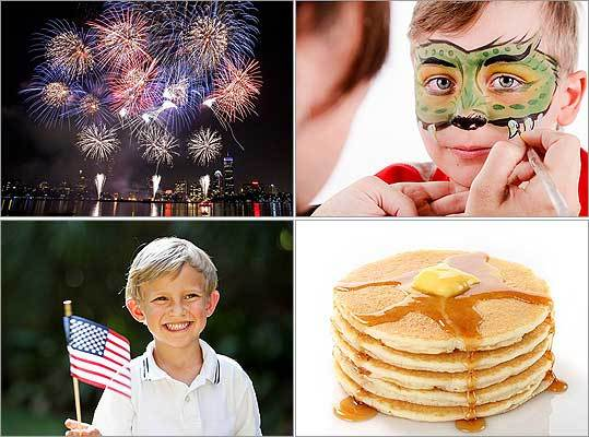 If you want to celebrate the Fourth of July in the Boston area, you are in luck. Boston hosts some of the biggest Fourth of July celebrations around. Check out how you can celebrate in a big way and also in smaller ways, courtesy of Boston.com Moms . This weekend through July 4, catch a parade, firework displays, a breakfast, craft events, historic reenactments, and more. Happy birthday, America!