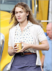 Kate Winslet was on a set in Shelburne.