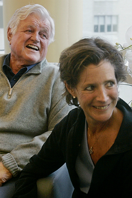 Kara Kennedy, the lone daughter of the late Sen. Edward M. Kennedy, died Sept. 16, 2011, at a Washington, D.C., health club of an apparent heart attack. Kennedy was diagnosed with lung cancer in 2002 and told she might have a year to live; she had part of her right lung removed and underwent chemotherapy, and was thought to be in remission. At left: Sen. Edward M. Kennedy and his daughter, Kara, sat in a family room at Mass. General. Read more: Kara Kennedy, 51, dies at health club