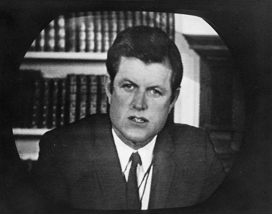 "Seven days after the now-infamous crash, Kennedy pleaded guilty to leaving the scene of an accident after causing injury. He received a two-month suspended sentence and his license was suspended for more than 18 months. In a televised statement made after his guilty plea, Kennedy said he was not driving drunk nor engaging in ""immoral conduct"" with Kopechne. Chappaquiddick likely put a damper on Kennedy's further political aspirations. At left: Kennedy reads a statement after pleading guilty to crash-related charges."