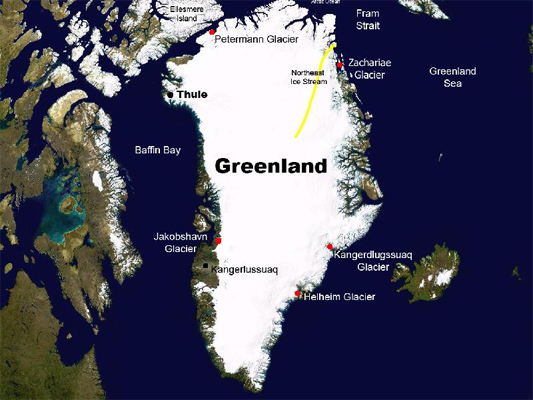 NASA's Operation IceBridge makes science flights from Kangerlussuaq and Thule, Greenland, to survey the area's ice sheet, outlet glaciers, and sea ice.