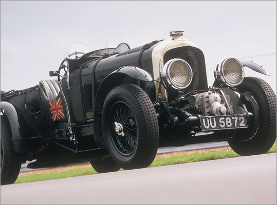 Bentley 4 1/2 Litre Big, powerful, and way ahead of its time, the Bentley 4 1/2 Litre was the iconic race car of the 1920s. The Bentley Blower (pictured at left) featured a supercharged engine.