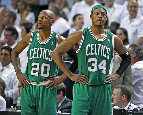 Paul Pierce has one year left on his Celtics contract and might test free agency.