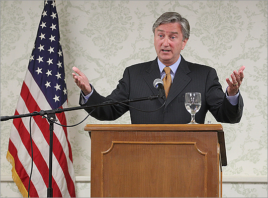Congressman John Tierney met with the media on July 3 to address claims by his brothers-in-law.