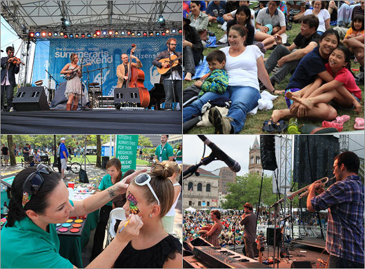 The inaugural Boston Globe WGBH Summer Arts Weekend brought thousands of music fans of all ages to Copley Square across July 27-29. Click through the gallery to look back at the weekend's events and highlights.