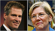 Brown and Warren take to the airwaves in their campaign battle