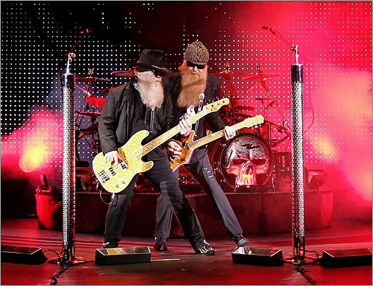 ZZ Top band members Dusty Hill and Billy Gibbons performed with the rest of the band at the Orpheum Theater in 2009.