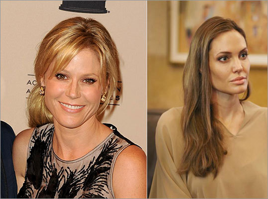 "It was ""Modern Family"" star Julie Bowen, left, who compared fellow actress Angelina Jolie, right, to a unicorn in a Health magazine article."