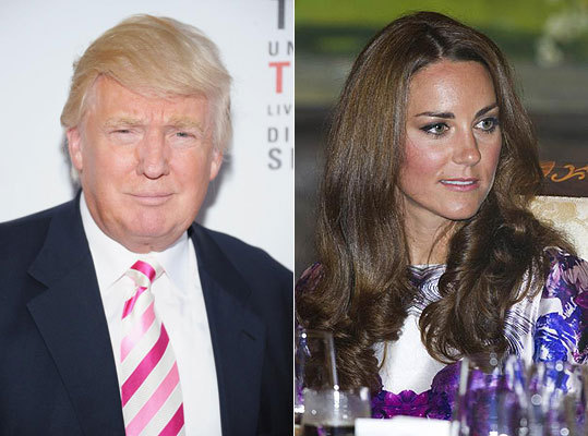 If you guessed The Donald , left, you were right. He was tweeting about the topless photo scandal involving the Duchess of Cambridge, Kate Middleton, right. The photos were taken of Middleton from a distance while she was at a private villa in France with her husband Prince William.