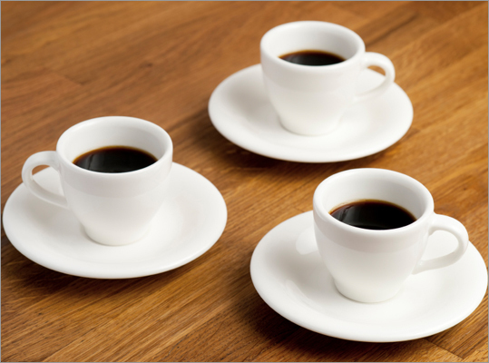 What percentage of workers must have at least three cups of coffee a day? Correct! This answer is incorrect. Please try again. 5 19 31