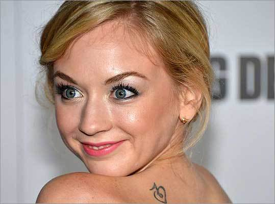 If you guessed Emily Kinney of 'The Walking Dead,' you are correct. Kinney blogged about her tattoo , writing, 'I got a tattoo of a heart, and I'm not really trying to change my image. I just am who I am... and who I am wanted a tattoo of a heart... with a music note!'