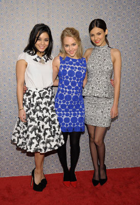 From left: Actresses Vanessa Hudgens, AnnaSophia Robb, and Victoria Justice attended the Alice + Olivia By Stacey Bendet Fall 2013 fashion show presentation during Mercedes-Benz Fashion Week on Feb. 11.