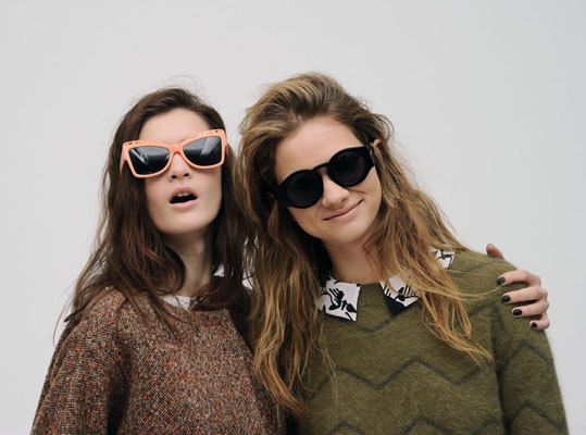 Models backstage at the Karen Walker fall 2013 show at Pier 59 on Feb. 11.