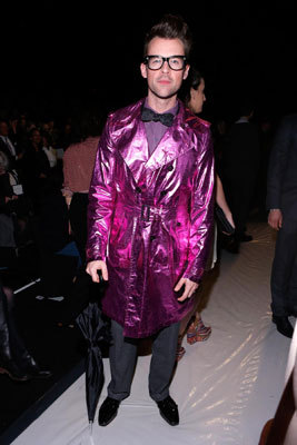 "Brad Goreski, former style director for Rachel Zoe and star of the TV series ""It's a Brad, Brad World,"" donned a metallic trench coat at New York Fashion Week on Feb. 11."