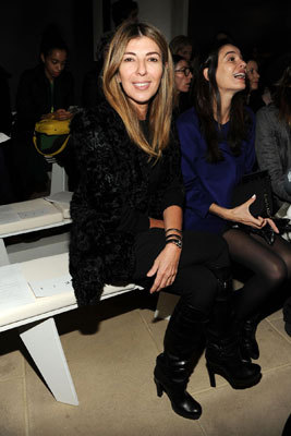 Nina Garcia, fashion director at Marie Claire Magazine and Proect Runway judge, attended the Belstaff Fall 2013 show on Feb. 11.