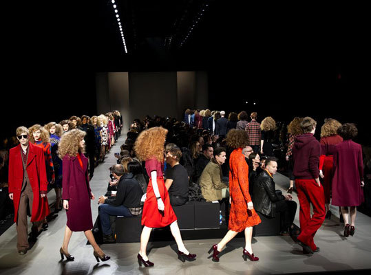 The final walk at the Marc by Marc Jacobs show on Feb. 11.