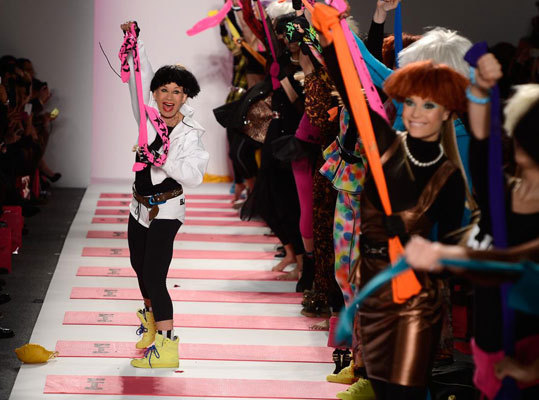 After the 70-year-old veteran designer filed for bankruptcy last April , Betsey Johnson (pictured) presented her first ever activewear collection on Feb. 11 at Lincoln Center.