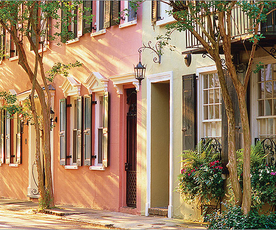 Discover the intersection of Southern charm and history, sample classic Southern staples, and take in unique 19th- and 20th-century architecture in Charleston, S.C. Founded during the 17th century, this city by the sea has been a major commercial and local port. Click through the gallery to learn more. At left, Charleston's historic Rainbow Row--a colorful set of townhouses on East Bay Street.