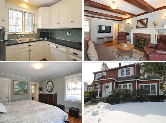 This Milton house has three bedrooms, 2 &frac12 bathrooms, and 2,307 square feet of living space. How much does this house cost? Correct! This answer is incorrect. Please try again. $578,900 $639,000 $695,000 This house has beamed ceilings, a fireplace family room, subway tile baths, and a fenced in yard.