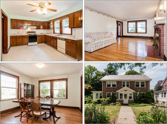 This Newton house has three bedrooms, 2 &frac12 bathrooms, and 2,455 square feet of living space. How much does this house cost? Correct! This answer is incorrect. Please try again. $649,900 $705,900 $775,900 This house has a fireplaced front-to-back living room, an eat-in kitchen, and a lower level with a finish room and storage area.
