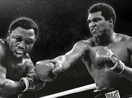 Widely known as one of the greatest boxing matches of the 20th century, the so-called Thrilla in Manila was the third fight between Muhammed Ali and Joe Frazier and took place in Quezon City, Philippines. Ali ultimately won the fight.