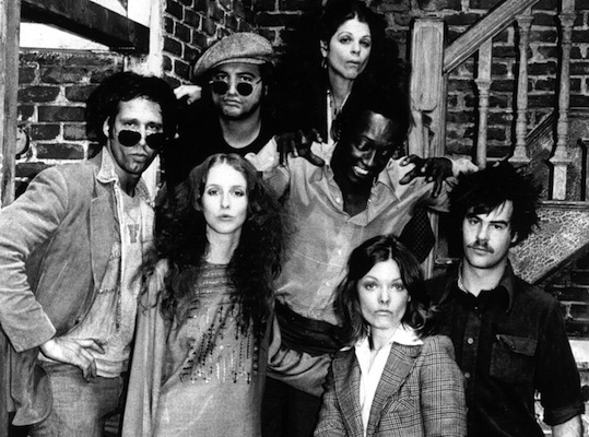Pictured clockwise from left, Chevy Chase, Jim Belushi, Gilda Radner, Garrett Morris, Dan Aykroyd, Jane Curtin, Laraine Newman were part of the original cast of Saturday Night Live, which premiered October 11, 1975.