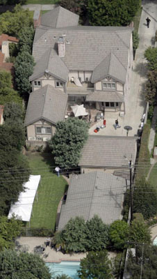 An aerial view of the former home of Jonathan and Linda Sohus, who went missing in 1985, in San Marino, Calif. Investigators used ground-penetrating radar, searching for evidence in their disappearance in 2008. Nine years after the couple disappeared, workers building a pool for the new owners unearthed a man's bones. Gerhartsreiter lived with the couple under the name of Christopher Chichester. Following his arrest on kidnapping charges, investigators re-examined the Sohus' disappearance.