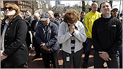 Marathon victims honored with silence