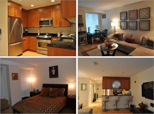 This downtown Boston condo has one bedroom, one bathroom, and 864 square feet of living space. How much does this condo cost? Correct! This answer is incorrect. Please try again. $450,000 $529,000 $560,000 $685,000