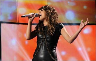 Angie Miller has gone from Beverly waitress to superstar in a matter of months. The local competitor on 'American Idol' made it to the Top 3 on 'American Idol' before being eliminated, and we rounded up her 10 most popular performances from the show according to YouTube votes before her hometown visit. Enjoy!