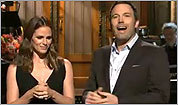 Watch: Affleck (with Garner) on SNL