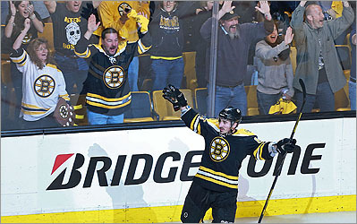 Bruins go up 2-0 against Rangers