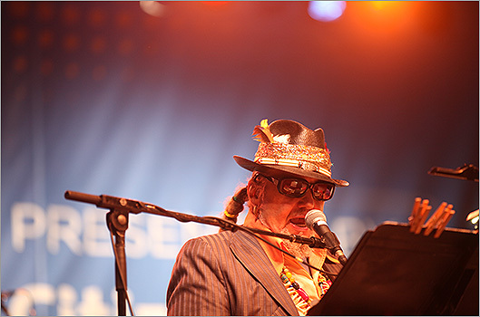 The legendary Dr. John closed down the Friday performances with a special set with his band the Nite Trippers.