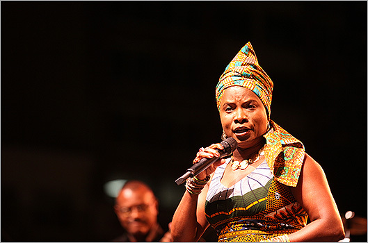 Angelique Kidjo took the stage last.